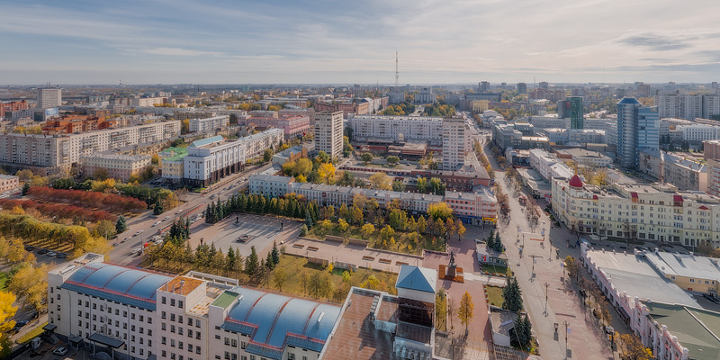 View to Chelyabinsk from the building ''Chelyabinsk-CITY''