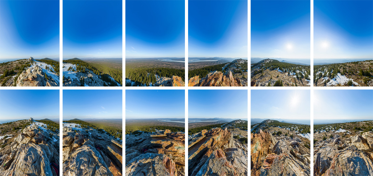 Shooting single shots panorama